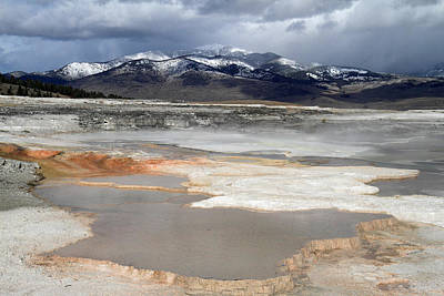 Mammoth Hot Springs In Yellowstone National Park Art Print