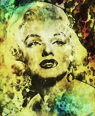 Marilyn Monroe Vintage Hollywood Actress Art Print