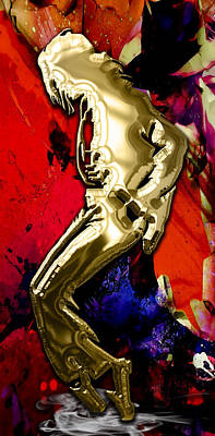 Michael Jackson Mixed Media - Michael Jackson Collection by Marvin Blaine