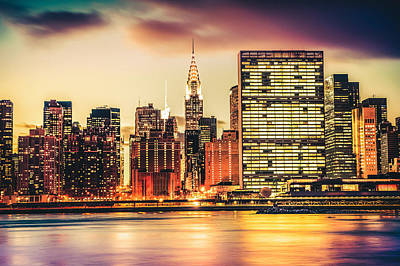 New York Chrysler Building Skyline Photograph - New York City by Vivienne Gucwa