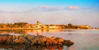 Landscape Painting - Oil Painting Landscape Pictures Nature by Margaret J Rocha