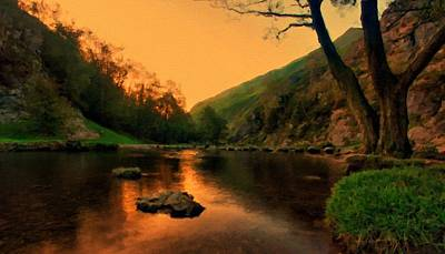 A Summer Evening Landscape Digital Art - Path Landscape Light by Victoria Landscapes