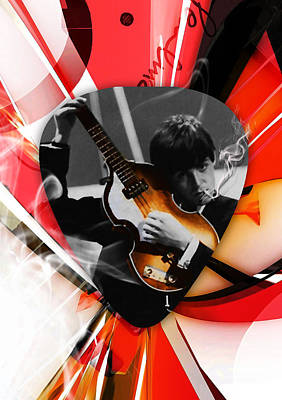 Mixed Media - Paul Mccartney Art by Marvin Blaine