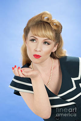 Vintage Pinup Photograph - Pin Up Girl by Amanda Elwell