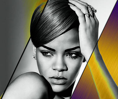 Celebrities Mixed Media - Rihanna Collection by Marvin Blaine