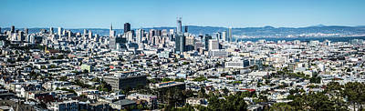 Photograph - San Francisco California Downtown And Surroundings by Alex Grichenko