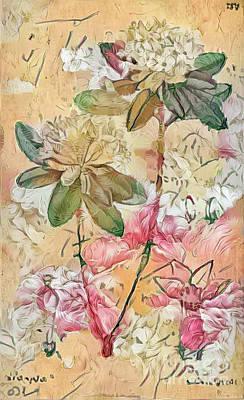 Shabby Chic Botanical Flowers Art Print