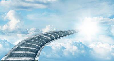 Pathway Digital Art - Stairway To Heaven by Les Cunliffe