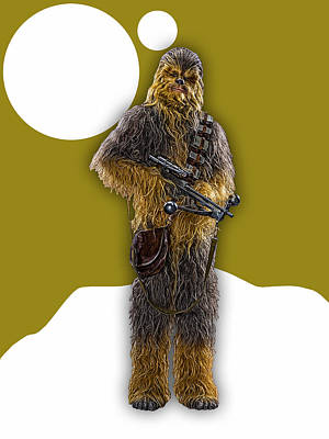 Star Wars Chewbacca Collection Art Print