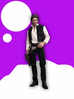 Harrison Mixed Media - Star Wars Han Solo Collection by Marvin Blaine