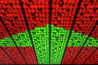 Global Digital Art - Stock Market Digital Board by Allan Swart