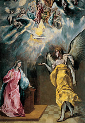 The Annunciation  Art Print by El Greco