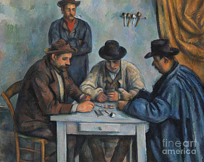 The Card Players Art Print by Paul Cezanne
