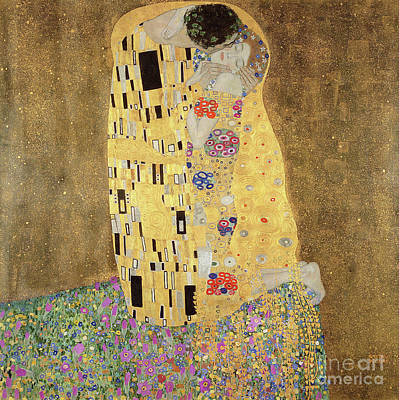 Arm Around Her Painting - The Kiss by Gustav Klimt