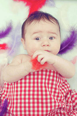 Three Month Old Baby Boy Art Print by Tom Gowanlock
