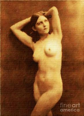 Erotica Art Painting - Vintage Style Nude Study, Erotic Art By Mary Bassett by Mary Bassett