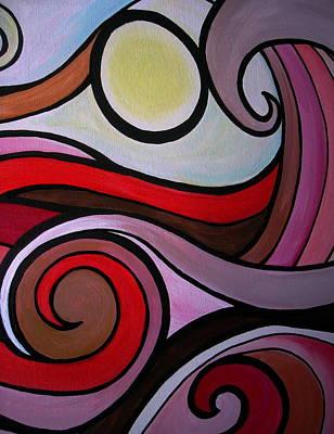 Ocean Painting - Waves by Pristine Cartera Turkus