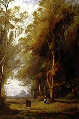 Sunrise Painting - Nature Landscape Oil by Edna Wallen