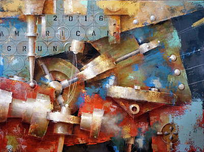 Painting - 16.030 - American Grunge by Ken Berman