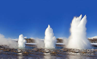 Photograph - Strokkur, Fountain Geyser In Iceland by Arterra Picture Library