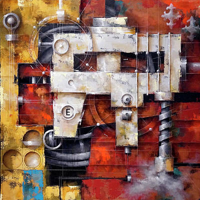 Architectural Painting - 16.038 - Powerhouse by Ken Berman
