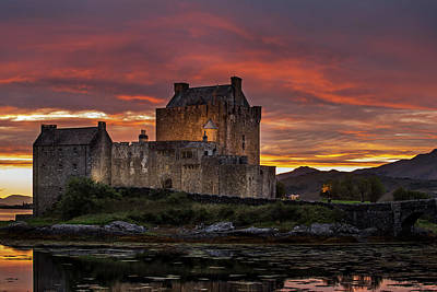 Photograph - Eilean Donan Castle At Sunset, Scotland by Arterra Picture Library