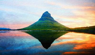 Cloud Painting - Nature Landscape Painting by Margaret J Rocha