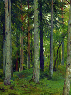 Reflection Painting - Nature Landscape Jobs by Edna Wallen