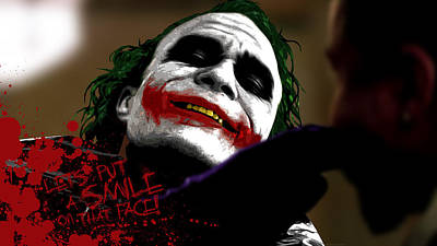 Heath Ledger Digital Art - 16363 The Dark Knight Heath Ledger Joker by Anne Pool