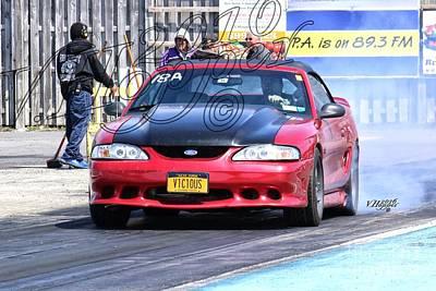 Wall Art - Photograph - 163916 04-24-16 Esta Safety Park Drag Racing by Vicki Hopper