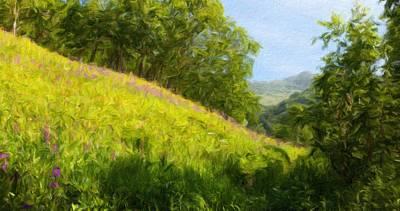 Cloud Painting - Landscape Nature Art by Margaret J Rocha