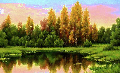 Sun Painting - Nature Landscape Artwork by Edna Wallen