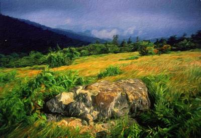 Blue Painting - Nature Landscape Work by Margaret J Rocha