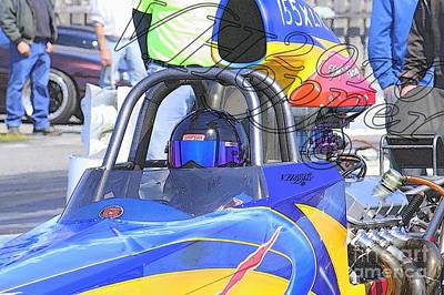 Wall Art - Photograph - 164003 04-24-16 Esta Safety Park Drag Racing by Vicki Hopper