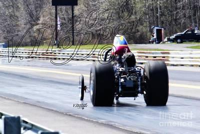Wall Art - Photograph - 164009 04-24-16 Esta Safety Park Drag Racing by Vicki Hopper