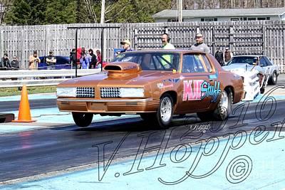 Wall Art - Photograph - 164020 04-24-16 Esta Safety Park Drag Racing by Vicki Hopper