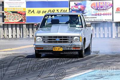 Wall Art - Photograph - 164028 04-24-16 Esta Safety Park Drag Racing by Vicki Hopper