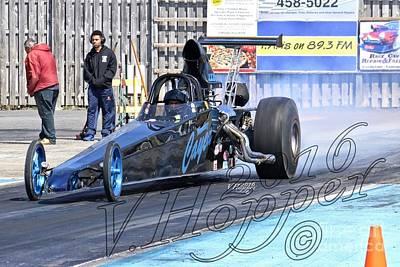 Wall Art - Photograph - 164050b 04-24-16 Esta Safety Park Drag Racing   by Vicki Hopper