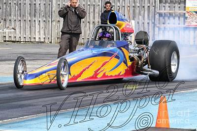 Wall Art - Photograph - 164098b 04-24-16 Esta Safety Park Drag Racing by Vicki Hopper