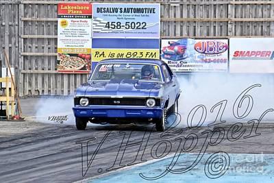 Wall Art - Photograph - 164187c 04-24-16 Esta Safety Park Drag Racing by Vicki Hopper