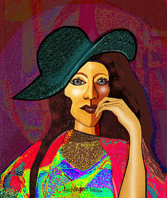 Digital Art - 1645 -  Power Lady by Irmgard Schoendorf Welch