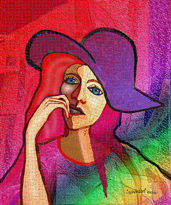 Digital Art - 1647 - Iffy Girl 2017 by Irmgard Schoendorf Welch