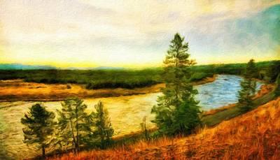 Landscape Painting - Nature Painted Landscape by Margaret J Rocha
