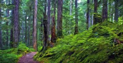 Idyllic Painting - Landscape Nature Drawing by Margaret J Rocha