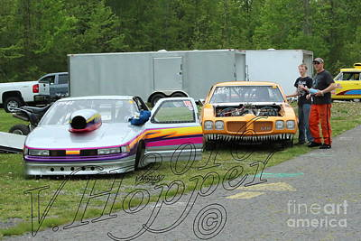 Wall Art - Photograph - 1673 05-21-16 Esta Safety Park Drag Racing by Vicki Hopper