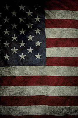 Landmarks Royalty-Free and Rights-Managed Images - American flag 62 by Les Cunliffe