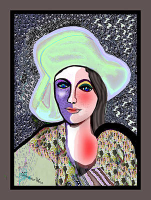 Digital Art - 1684 - Blushing Lady 2017 by Irmgard Schoendorf Welch