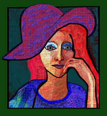 Digital Art - 1685 - Sad Eyes 2017 by Irmgard Schoendorf Welch