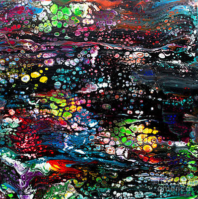Painting - #169 1st Black Swipe by Expressionistart studio Priscilla Batzell