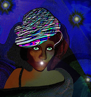 Digital Art - 1694- She Came At Midnight by Irmgard Schoendorf Welch